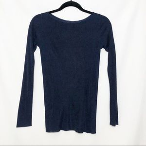 Ann Taylor Petite Navy Blue Shimmery Sweater